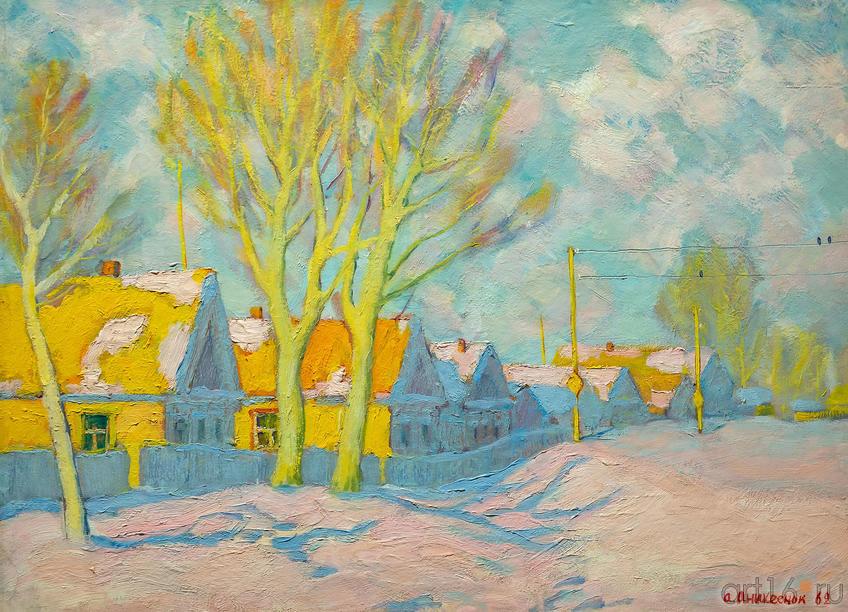 Зимний пейзаж, 1962, Аникеенок А.А.::Выставка к 100-летию ТАССР