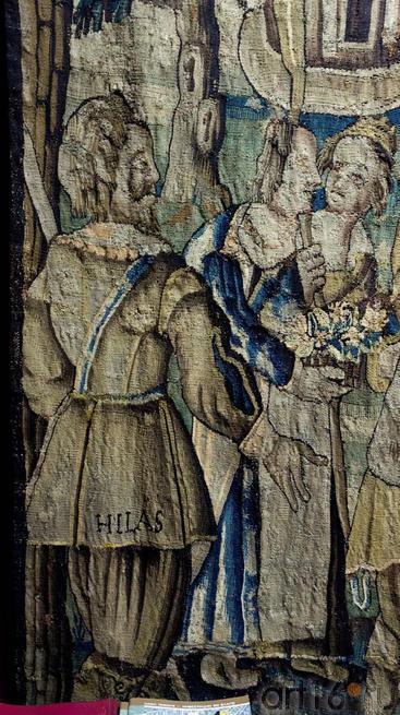 Фрагмент шпалеры История Гиласа. Слева: Гилас, герой мифов об Аргонавтах