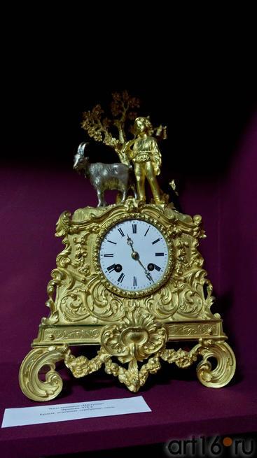 Часы каминные Пастушок. Франция, XIX в.