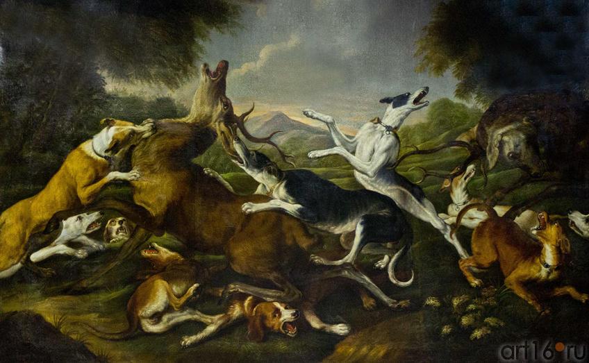 Снейдерс, Франс (1579-1657). Фландрия, XVII в. Олени, загнанные сворой собак