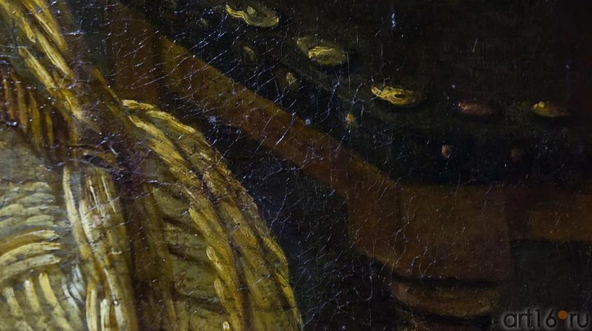 Фрагмент картины Снейдерса Ф. (1579-1657), мастерская. Фландрия. XVII в. Собаки на кухне