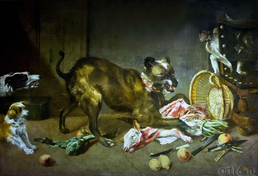 Снейдерс Ф. (1579-1657), мастерская. Фландрия. XVII в. Собаки на кухне