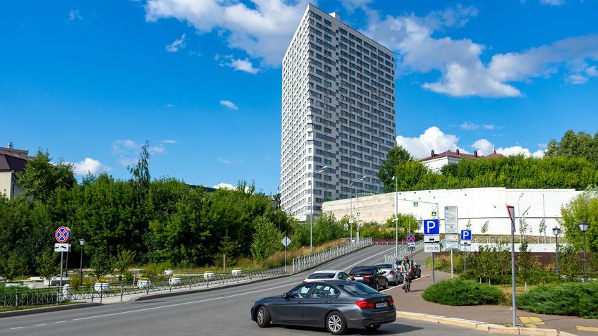 Щербаковский переулок, 7. Кловер хаус. 26 этажей. Казань::Казань, ул. Петербургская, июль 2020
