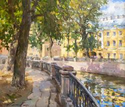 Канал Грибоедова. В тени деревьев. 2008. Азат Галимов