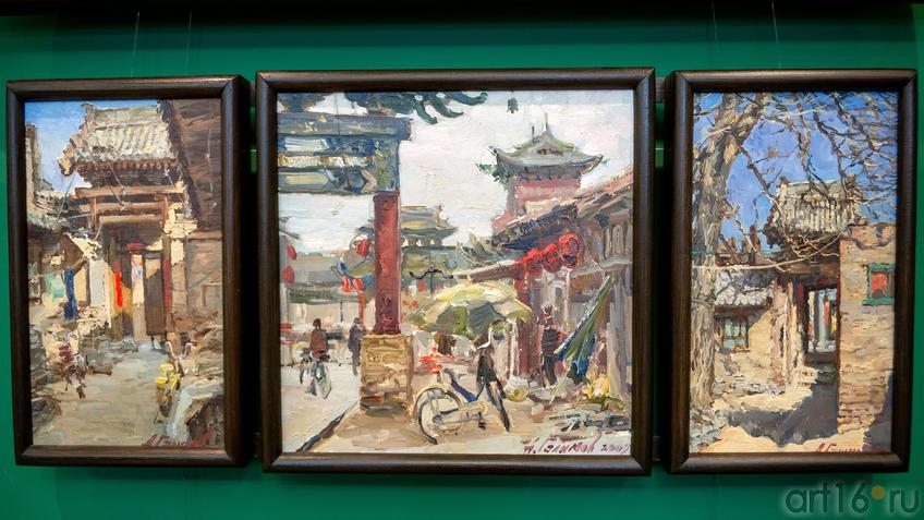 Триптих «Пиньяо 1». 2009. Азат Галимов::Выставка «Азат Галимов. Между Западом и Востоком»