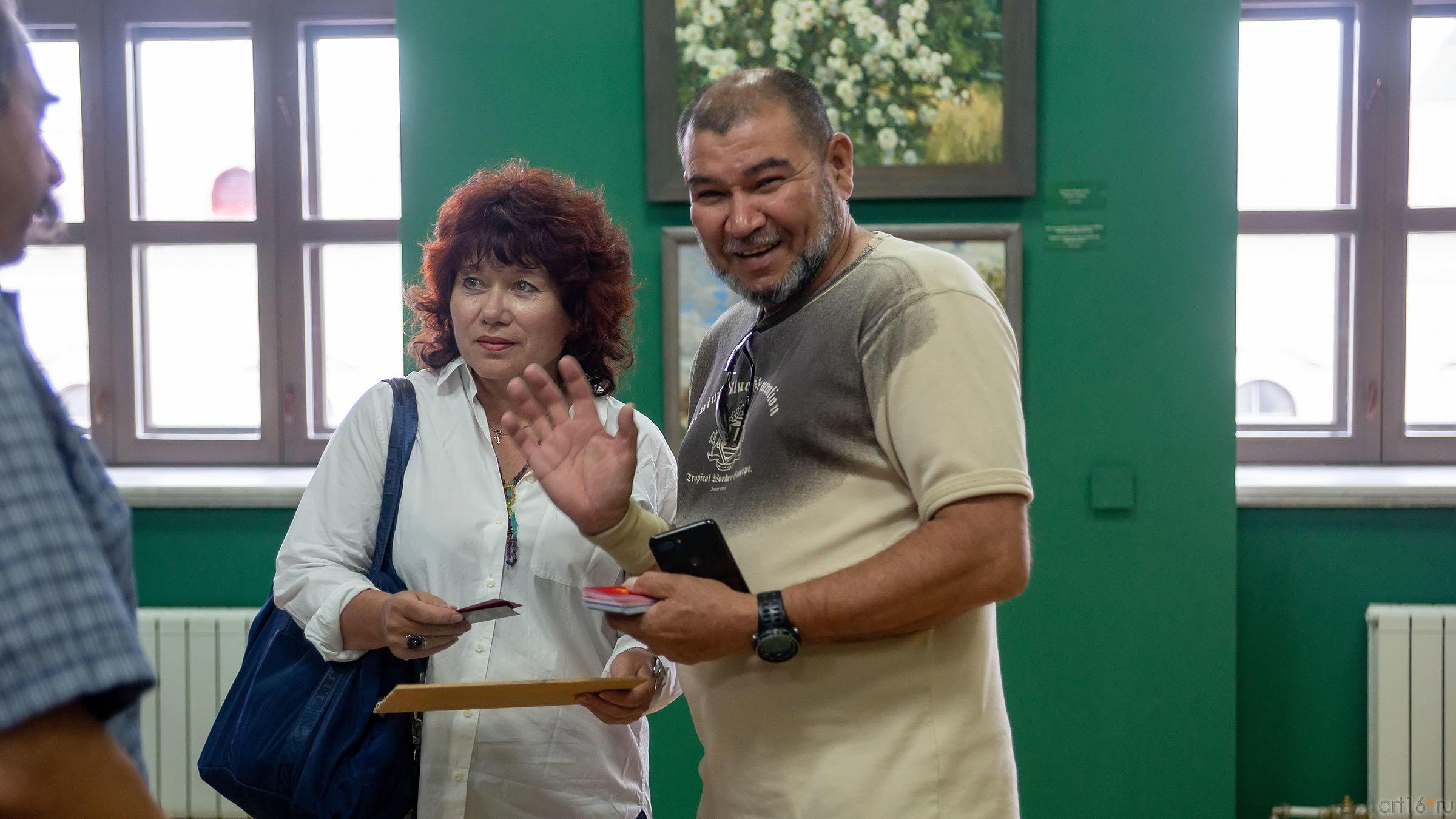 Ирина Кочергна, Тахир Ташев::Выставка «Азат Галимов. Между Западом и Востоком»
