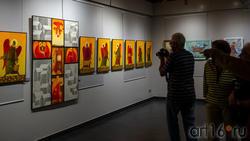 На открытии выставки «Фантазии» В.Белова и М. Григорьевой