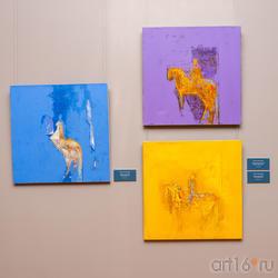 Синий всадник /Фиолетовый всадник /Желтый всадник. 2011. Расих Ахметвалиев
