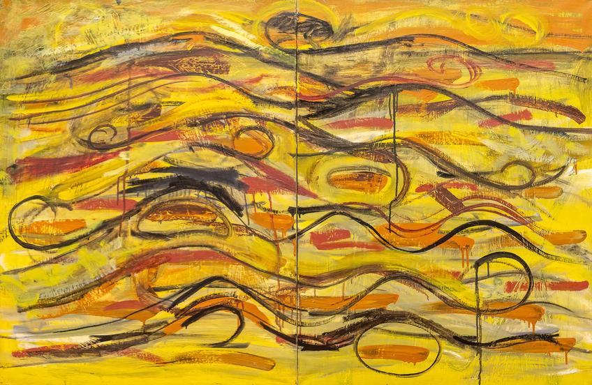 Серия живопись. Картина №40.2006. Мидат Мухаметов::«Родник любви и вдохновения». Выставка из коллекции Фонда Марджани