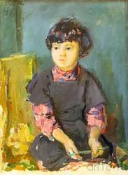 Портрет девочки. Этюд. 1948. Баки Урманче
