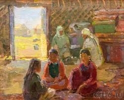 Дети в юрте. 1949. Баки Урманче