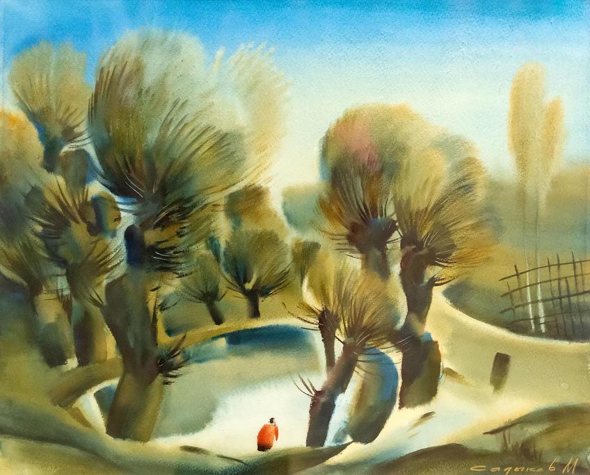У хауза. 1984. Марат Садыков::«Родник любви и вдохновения». Выставка из коллекции Фонда Марджани