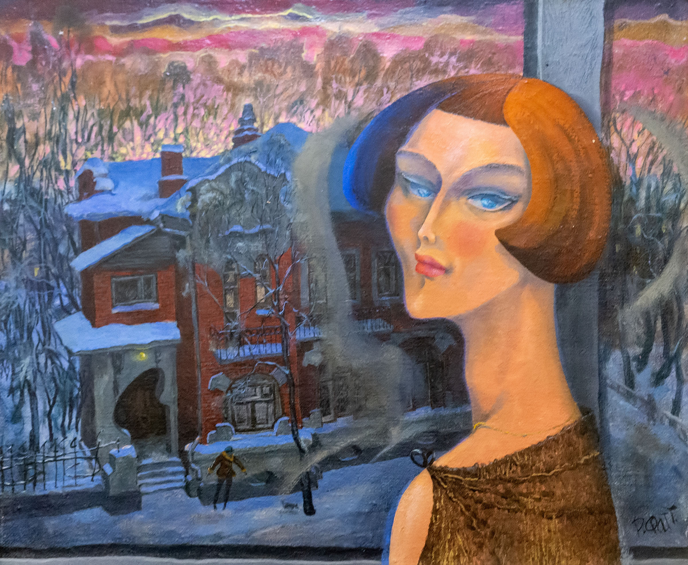 Мадам. 2000. Фаттахов Рустем Шайгалеевич (1946-2019)::Выставка 6 молодых художников. Взгляд через 50 лет. 1970-2020