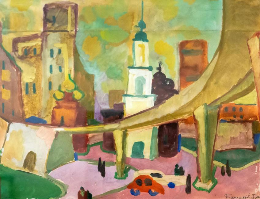 Московский дворик. Начало 1970-х. Башмаков Игорь Николаевич (1943-2012)::Выставка 6 молодых художников. Взгляд через 50 лет. 1970-2020