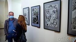 Фрагмент экспозиции «Выставки 6 молодых художников. Взгляд через 50 лет»