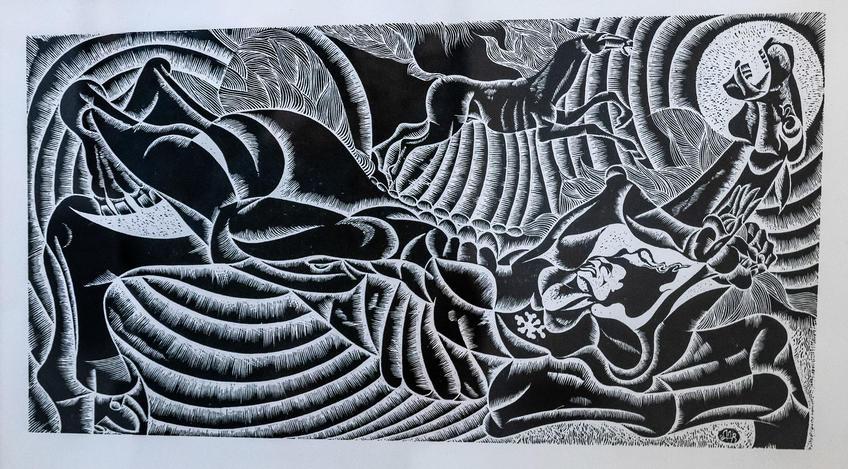 Падение. 1979. Альмеев Ндир Усманович (1946)::Выставка 6 молодых художников. Взгляд через 50 лет. 1970-2020
