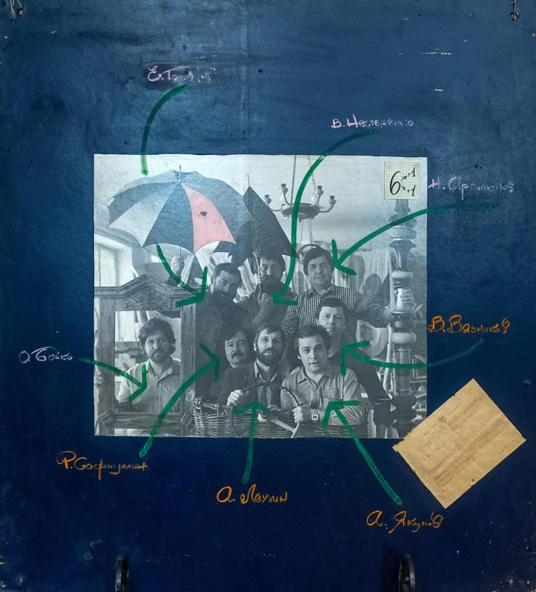 Участники выставки «6+1+1» в Казани СХ ТАССР, 1984 (?)::Выставка 6 молодых художников. Взгляд через 50 лет. 1970-2020