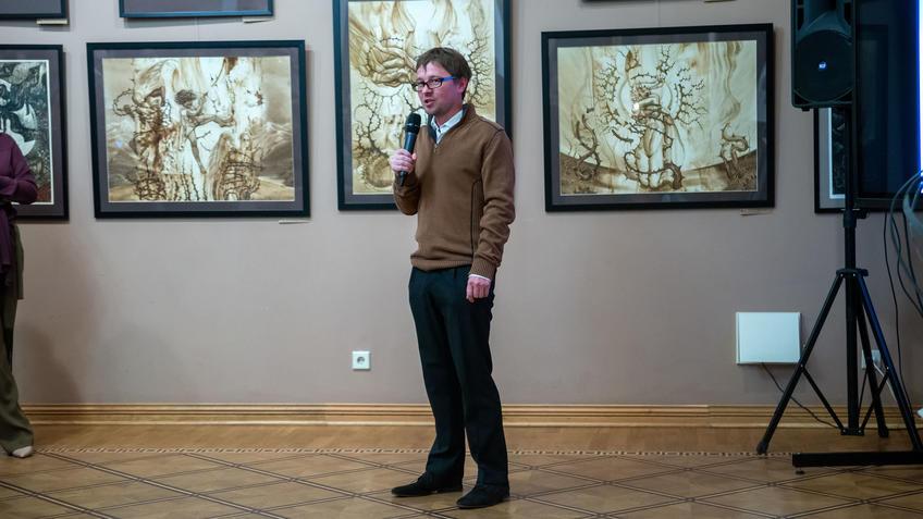 На открытии «Выставки 6 молодых художников. Взгляд через 50 лет»::Выставка 6 молодых художников. Взгляд через 50 лет. 1970-2020