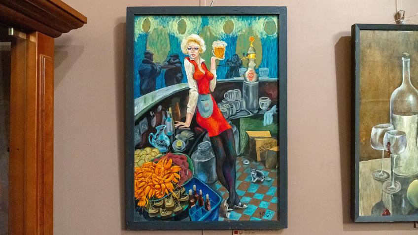 Люсьен. 2004. Фаттахов Рустем Шайгалеевич (1946-2019)::Выставка 6 молодых художников. Взгляд через 50 лет. 1970-2020