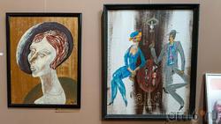 Портрет N. 2003 /В кафе. Из серии «Двое». 2002. Фаттахов Р.Ш. (1946-2019)
