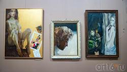 Полет.2006 /Портрет.1990-е.Нестеренко В.А. (1947) /В мастерской.2002.Фаттахов Р.Ш. (1946-2019)