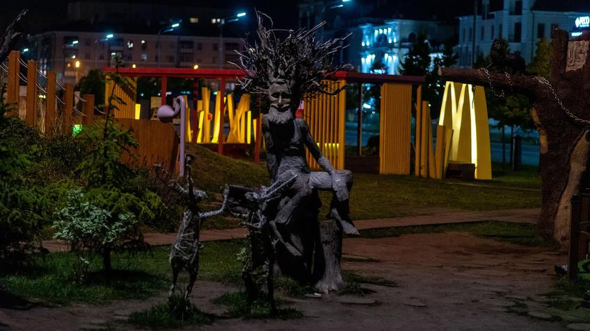Цветочный фестиваль возле ТГТК «Экият». Вечер, Казань::Ночная прогулка по Казани