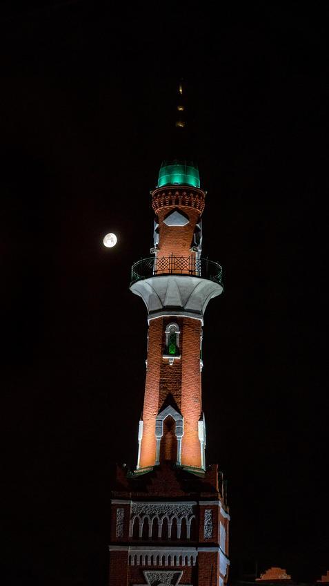Минарет Закабанной мечети. Вечер, Казань::Ночная прогулка по Казани
