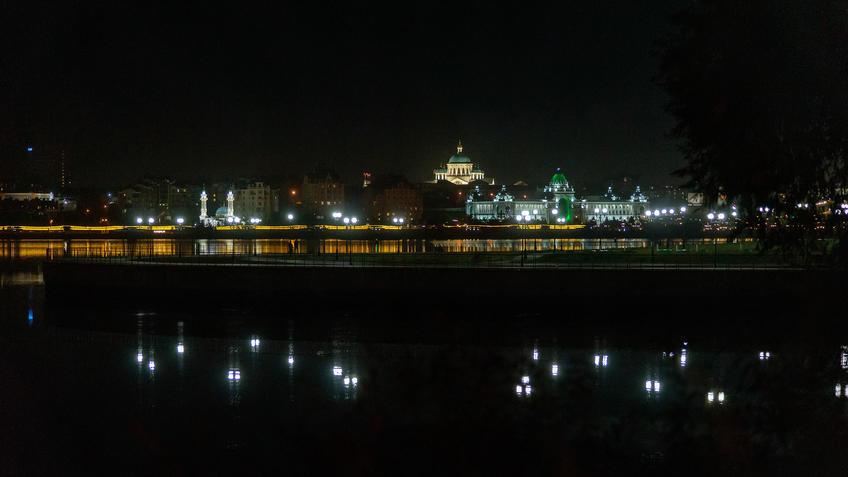 Левый берег Казанки. Вечер, Казань::Ночная прогулка по Казани