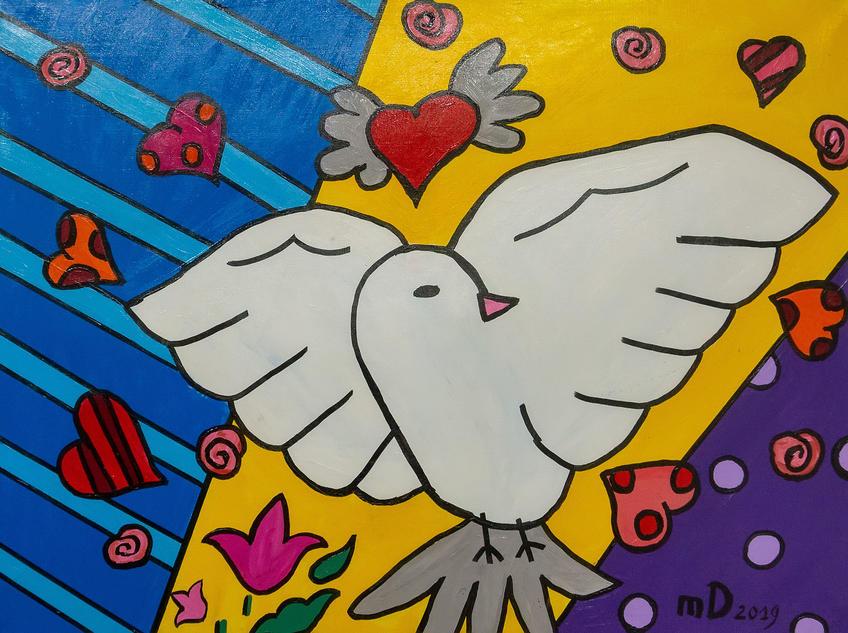 Голубь. 2019Давид Майсурадзе::Выставка «АРТ Интерьер»