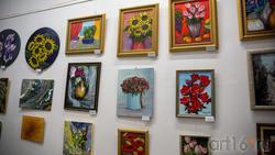 Фрагмент экспозиции выставки «АРТ ИНТЕРЬЕР». Тема цветов
