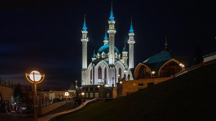 Мечеть Кул-Шариф, Казанский Кремль, Казань, октябрь 2020, ночь::Казань, Кремль, вечерняя прогулка