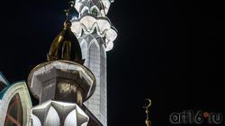 Минареты мечети Кул-Шариф. Казань, октябрь 2020, вечер