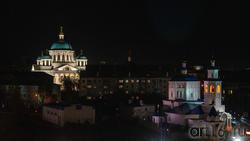 Вид на Казанскио-Богородицкий мужской монастырь, и на Варваринскую церковь. Казань