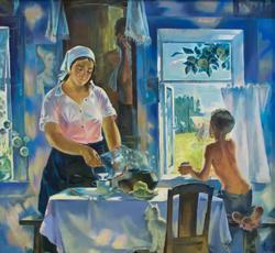 Голубое утро. 1981. Акимов В.Я. 1950, Народный художник РТ