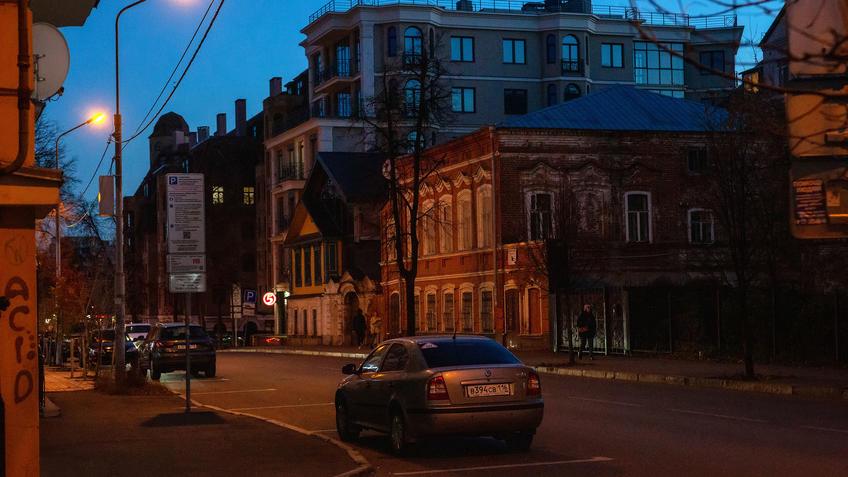 Ул. Маяковского, Казань, октябрь 2020, сумерки::Казань, улицы города. Сумерки. Октябрь 2020