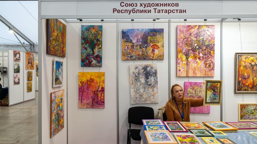 Елена Острая на АРТ-галерее 2020, Казань::Арт-галерея, октябрь 2020
