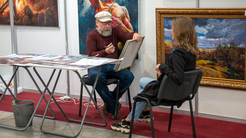 Альберт Тимершин на Арт-галерее Казань 2020::Арт-галерея, октябрь 2020
