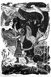 Иллюстрация к сказке ''Альтюк'', 1974. Сизов П.В., 19221-1996, Народный художник Чувашии