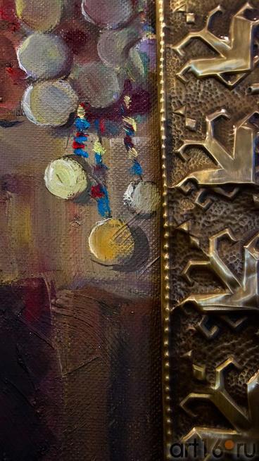 Фрагмент рамы и холста. Ожидание.  Григорян М.Г. 1962. Народный художник Чувашии::Искусство чувашского народа