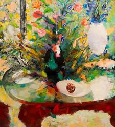 Натюрморт с черной вазой.2011. Федоров Р.Ф. 1929