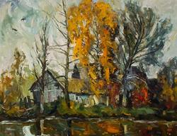 Осень пришла в село Подлесное. 2011. Долгашев К.А. 1946, Заслуженный художник Чувашии