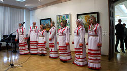 Чувашский фольклорный ансамбль на открытии выставки ''Искусство чувашского народа''