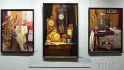 Натюрморт с шалью /Натюрморт с часами. Время /Письмо. Тахир Ильясов