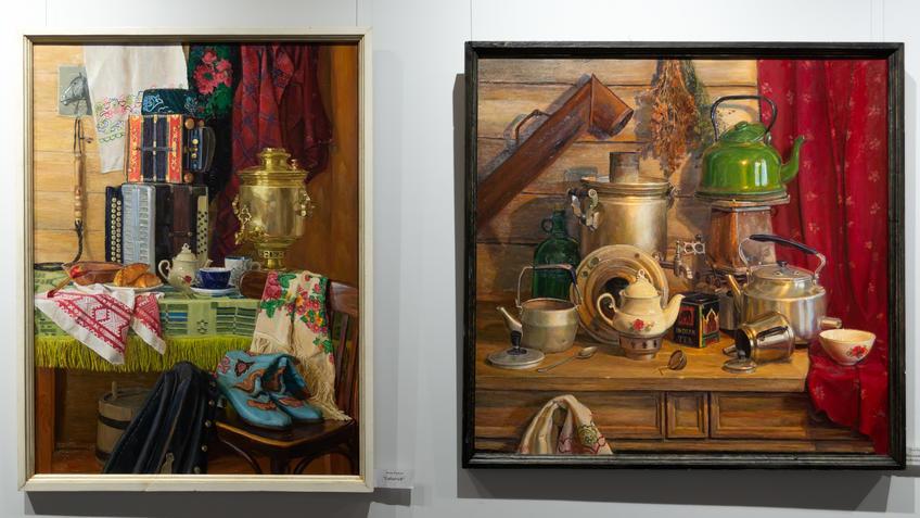 Сабантуй / Натюрморт с чайником. Тахир Ильясов::Тахир Ильясов. Выставка «Родник моей души»