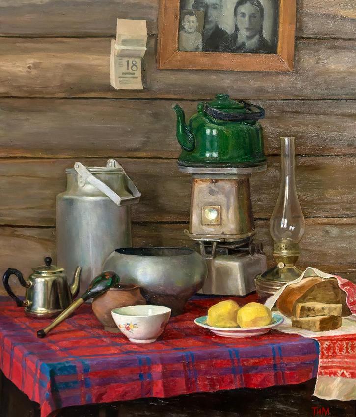 Натюрморт с картошкой. Тахир Ильясов::Тахир Ильясов. Выставка «Родник моей души»