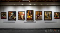 Фрагмент экспозиции выставки Тахира Ильясова «Родник моей души»
