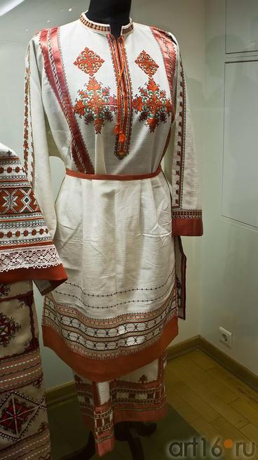 Платье женское. Фартук. Чувашский костюм. Симакова М.В. 1934::Искусство чувашского народа