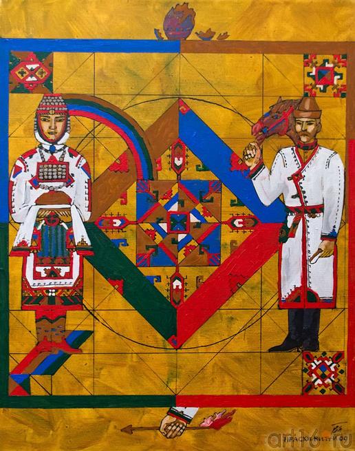 Из серии Чувашские мотивы. 2009::Искусство чувашского народа