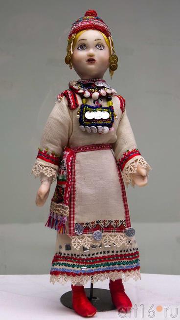Кукла авторская в чувашском костюме. Шаркова Т.В., 1954::Искусство чувашского народа