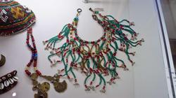 Ожерелье I пол. XIX. Стеклярус, бисер, ракушки ''каури''